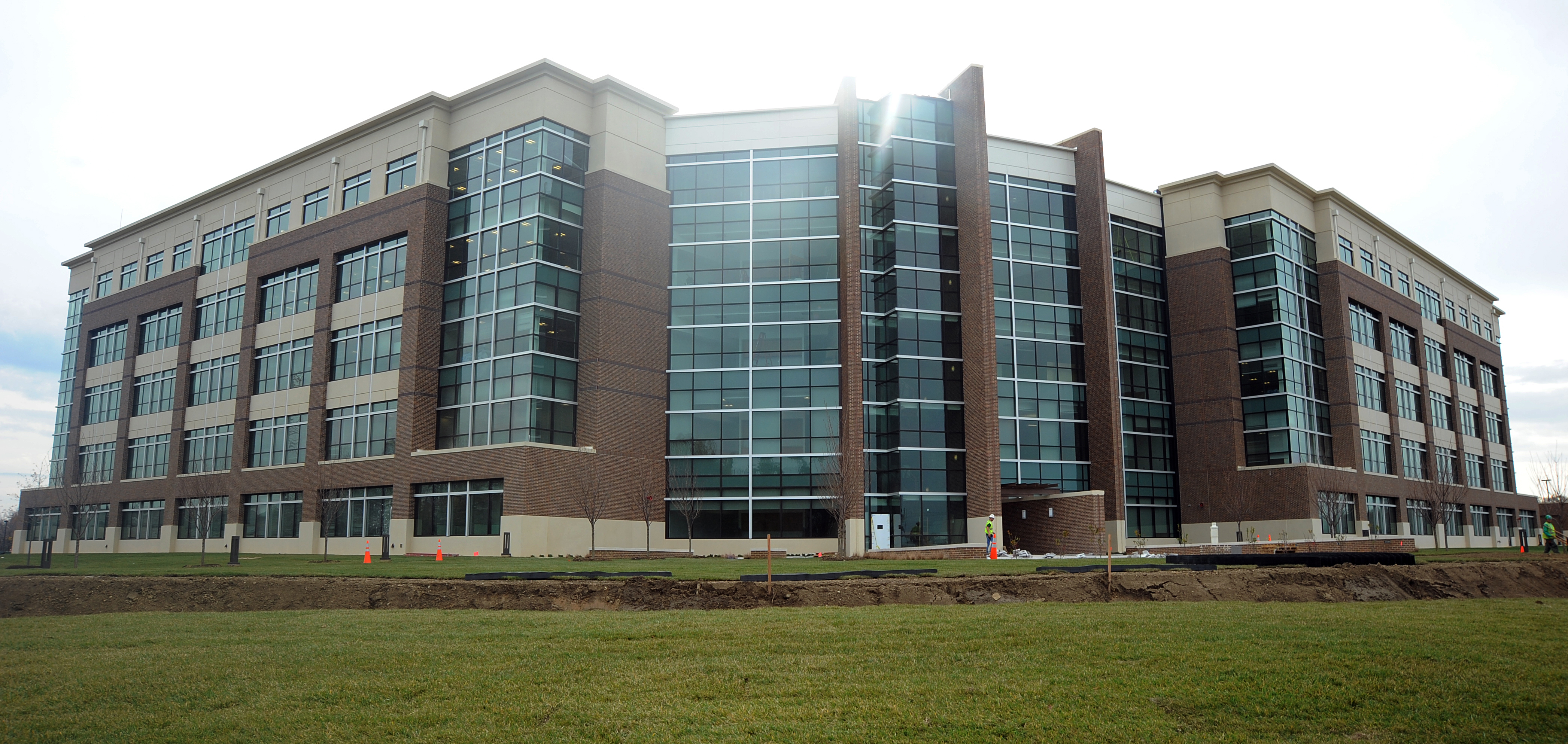 Building Up; New Headquarters Takes Shape